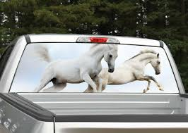 Wild Horses Running Rear Window Decal Graphic For Truck Suv