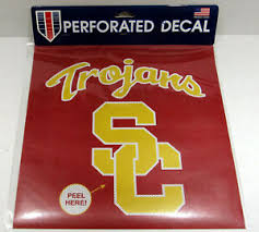 Ncaa Usc Sc Trojans 12 X12 Perforated Window Decal Ebay