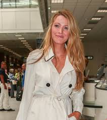 blake lively at nice airport ahead of