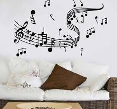 Staff Note Wall Decalsmusic Classroom Wall Decals Music Note Music Wall Decal Music Wall Stickers Music Notes