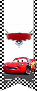 Bandeirinhas Kit Festa Infantil Carros Cars Invitaciones De
