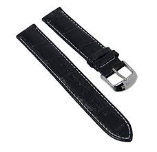 croco print black leather