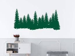 Amazon Com Pine Trees Wall Wall Decals Forest Landscape Nature Wall Stickers Merry Christmas Bedroom Decor Pine Trees Wall Art C551 Handmade