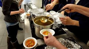 volunteering at a soup