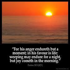 Psalms 30:5 Inspirational Image