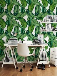 Big Leaves Wall Decal Botanical Leaves Removable Wallpaper Etsy