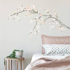 Roommates Cherry Blossom Branch Peel And Stick Giant With 3d Embellishments Pink White Peach Amazon Com