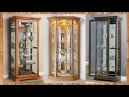 home glass corner display cabinet