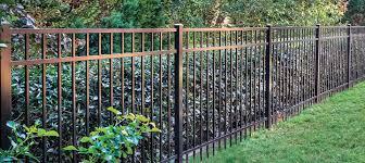 Ironcraft Berkshire Berkshire 4 Ft H X 6 Ft W Black Aluminum Flat Top Yard Lowes Com Backyard Fences Backyard Fences Alternative