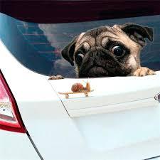 Funny Car Sticker Wall Sticker Bathroom Accessories Pug Dog Decal Truck Bumper Window Car Sticker Truck Vinyl Decal Dog Bathroom Accessories Autoiq Co