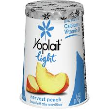 yoplait light fat free yogurt harvest