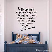 Potter Wall Decal Quote Happiness Can Be Found Even Wall Decal Vinyl Sticker Nursery Teens Kids Room Decor Unique Wall Decals Wall Mural Decals From Onlinegame 15 29 Dhgate Com