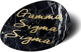 Amazon Com Gamma Sigma Sigma Sorority Dark Marble With Gold Script Sticker Decal 3 Inch Greek For Window Laptop Computer Car Gss Everything Else