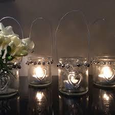 heart glass hanging tealight holder