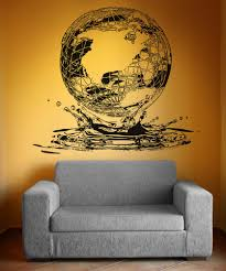 Vinyl Wall Decal Sticker Globe Water Drop Os Aa1550 Stickerbrand