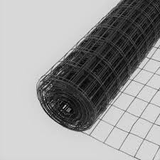 Everbilt 4 Ft X 50 Ft Black Pvc Coated Welded Wire Fence 308382eb The Home Depot In 2020 Welded Wire Fence Wire Fence Wire Mesh Fence