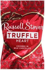 russell stover heart truffle 1 25 oz
