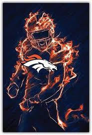 Amazon Com Sport Denver Broncos Nfl Player Car Bumper Sticker Decal 3 X 5 Home Kitchen