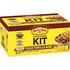old el paso flour tortilla bowl kit 8
