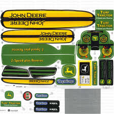 Decal John Deere Turf Tractor Plastic Pedal Tractor