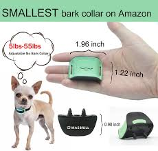 Masbrill Small Dog Bark Collar No Shock For Dogs Extra Small Medium Anti Dog Barking Device Beep Vibration Barking Co Wireless Dog Fence Dog Barking Dog Weight