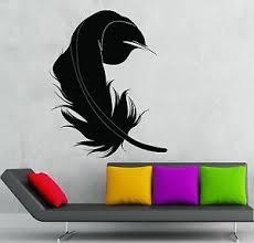 Wall Sticker Vinyl Decal Feather Bird Beautiful Living Room Decor Ig999 Ebay