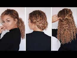 3 super easy hairstyles for 3b 3c curly