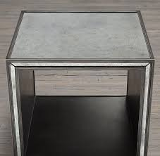 strand mirrored side cube table cube