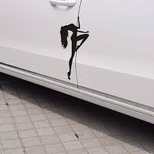 Pole Dancer Sticker Sexy Stripper Woman Vinyl Car Window Decal Truck Club Hot Wish
