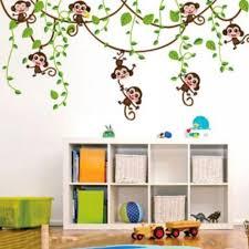 Removable Vinyl Monkey Bedroom Wall Sticker Decals Mural Jungle Nursery Monkey Kid Room Decoartion Home Decor Home Decor Wall Stickerbedroom Wall Stickers Aliexpress