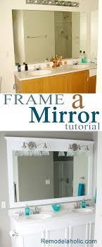 framing a large bathroom mirror master