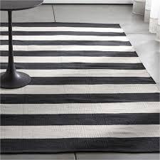black striped cotton dhurrie rug