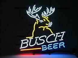 busch light deer real gl neon sign