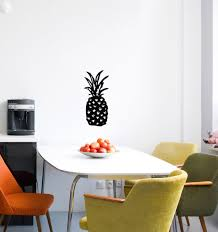 Flat Tropical Pineapple D1 Vinyl Wall Decal C Yydc Lg 5 25 H X 12 H For Sale Online