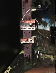 Jurassic Park Pinball 10000 Volts Sign Set Mezel Mods