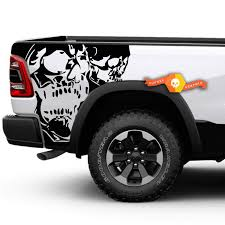 Product Dodge Ram Truck 1500 2500 Two Skull Graphic Decals Stickers Fits Models 2009 2014