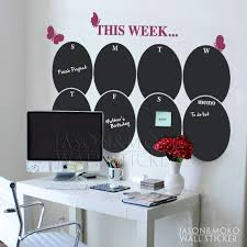 New Products Chalkboard Weekly Planner Butterfly Calendar Vinyl Decal Wall Decal Wall Stickers 70 110c Calendar Decal Vinyl Wall Decals Chalkboard Calendar