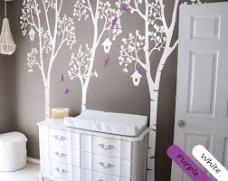White Birch Tree Wall Decals With Birds And Birdhouse Vinyl Wall Stickers For Kids Room Baby Nursery Decor Wall Tattoo Jw226 Birch Tree Wall Decal Tree Wall Decalwall Decals Aliexpress
