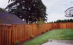 Wood Fence With Lattice 503 760 7725 Fence Superiorfence Wood Fence Fence Construction Cheap Fence