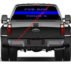 Pin On Rear Window Decals