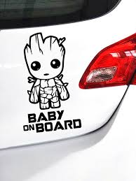 Groot Baby On Board Car Decal Sticker Mantra Graphics Designs Facebook