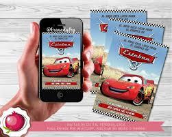 Invitacion Digital Personalizada Cars Rayo Mcqueen 2 500 En