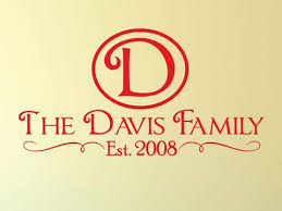Personalized Family Name Decal 0016 Family Monogram Family Establish Wall Decal Studios Com