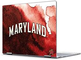 Amazon Com Skinit Decal Laptop Skin Compatible With Pixelbook Officially Licensed College Maryland Red Marble Design Electronics