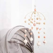 Amazon Com Baby Crib Mobile Bed Wind Wooden Bell Rattle Nordic Style Beads Chimes For Kids Room Hanging Newborn Gifts Nursery Decor Baby