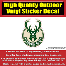 Milwaukee Bucks Basketball Vinyl Car Window Laptop Bumper Sticker Decal Ebay