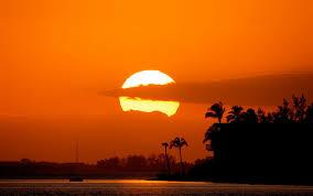 beautiful ocean sunset wallpaper