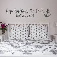 Hope Anchors The Soul Wall Decal Hebrews 6 19 Vinyl Wall Sticker Bedroom Decor Removeable Bible Scripture Wall Decals G344 Wall Stickers Aliexpress