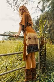 MYRA Bell Sleeve Silk Wrap Kimono Dress in Terra Firma (One Size) - Indie  Ella Lifestyle