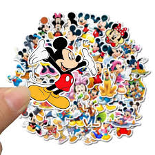 50pcs Mickey Mouse Waterproof Stickers Albums Graffiti Laptop Skateboard Luggage Guitar Bicycle Children Diy Decal Sticker Stickers Aliexpress